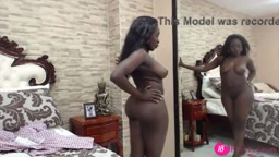Hot curvy African Louise with seductive big boobs