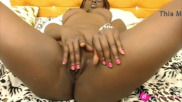 Black princess Celine Night enjoying her sex toys