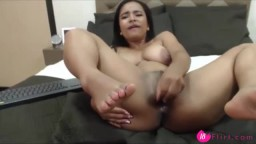 Sweet 18 brunette with big nipples and squirting pussy