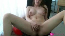 Beautiful babe Lexii masturbating for the webcam