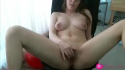 Beautiful babe Lexii masturbating for the webcam