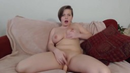 Loud moaning blonde Clarissa with big tits and fat pussy