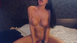 Sweetheart brunette Agnes with big fake tits ass fucking