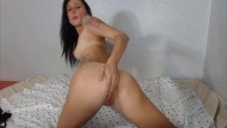 Stunning brunette Hayden with long legs and tight pussy