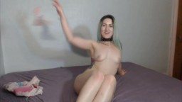Young American tatted gal Teddy Ames ready to masturbates
