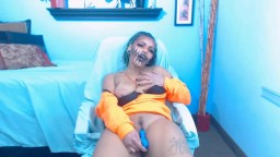 Younger nigger domme Dilynn in Halloween outfit masturbates