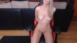Blonde angel Annabelle with elegant body and blue eyes