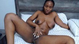 Sensual ebony babe with big boobs always ready for fun