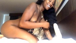 Young black Paris with  velvet skin loves big white cock