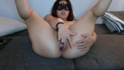 Masked student Skylar Blaze loves watching herself on cam