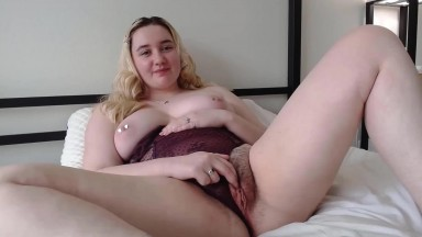 Pierced BBW girl Selene banged hairy slit and asshole