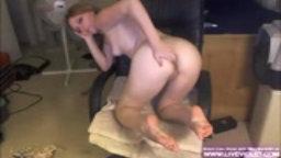Blonde girl Marie masturbates